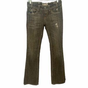 MEK Denim- Brown Havana Bootcut Jeans- 27x34